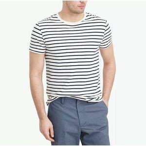 J.Crew Slim Fit Deck Striped T-Shirt L Large
